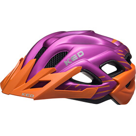 KED Status Helmet Junior Orange Violett Matt